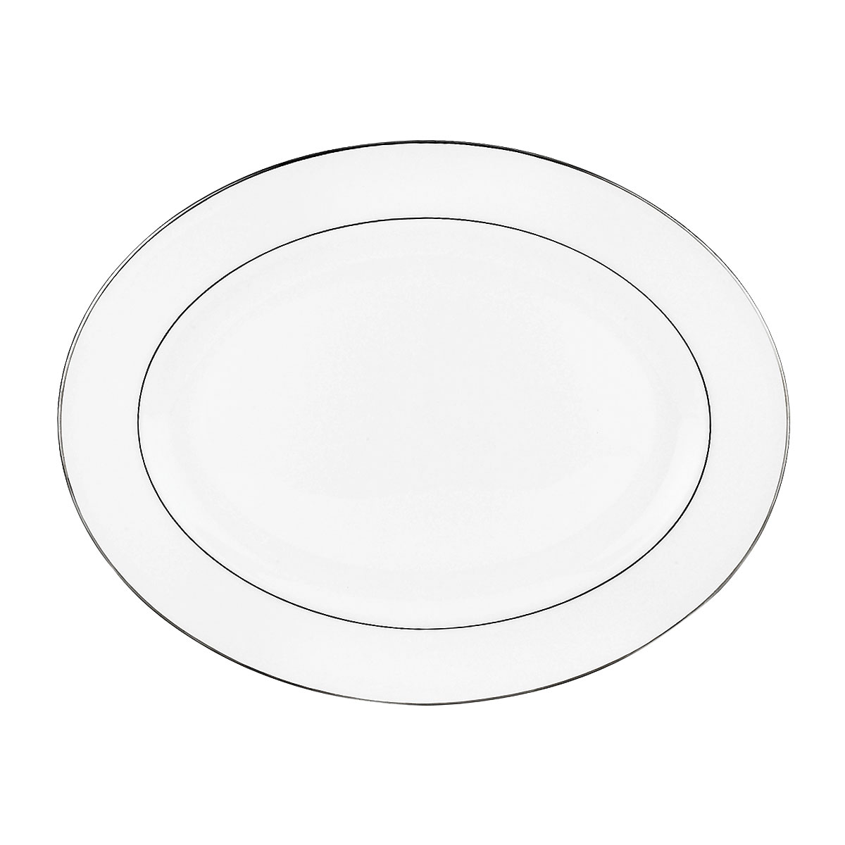 Lenox Continental Dining Platinum Dinnerware Oval Platter 16