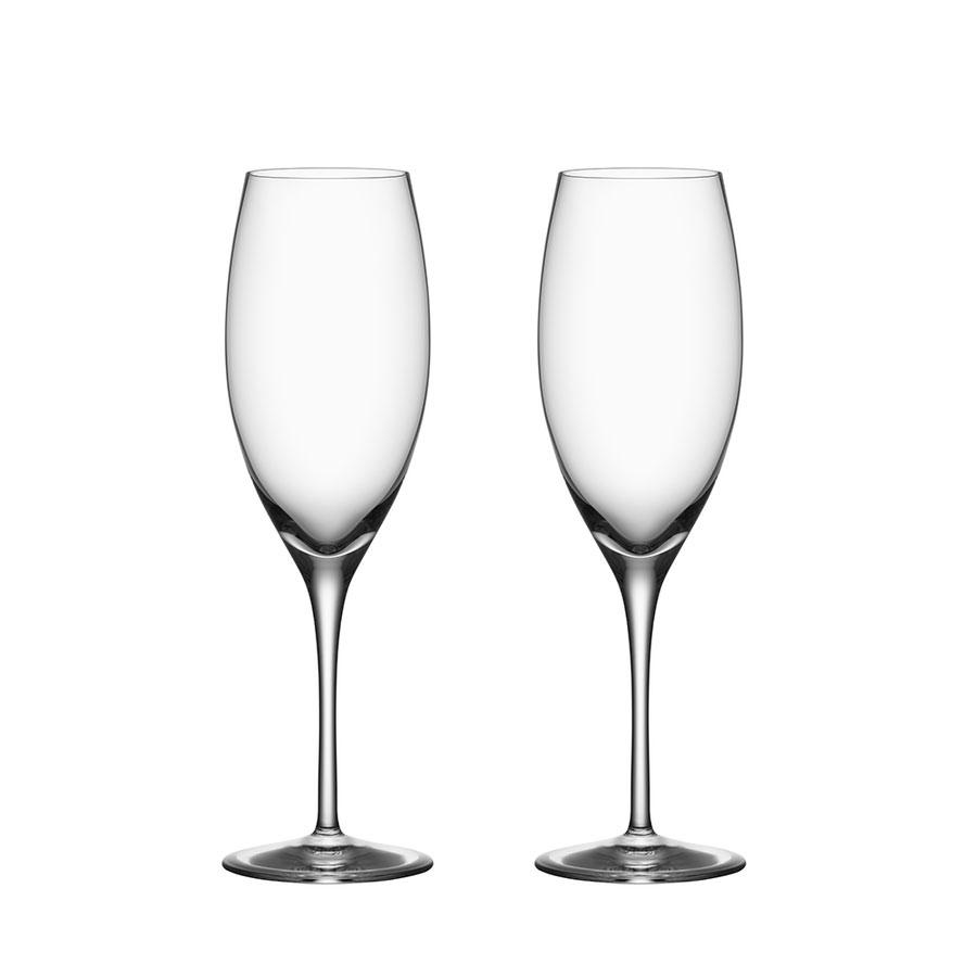 Orrefors Premier Champagne Pair