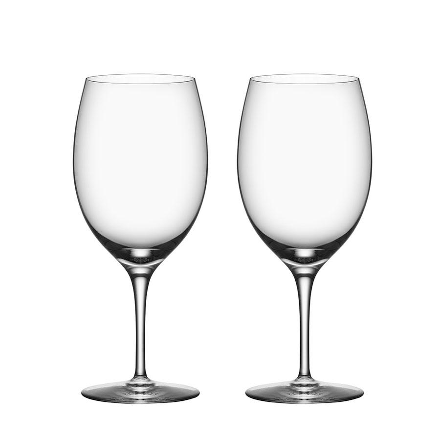Orrefors Premier Cabernet Merlot Wine Glasses, Pair