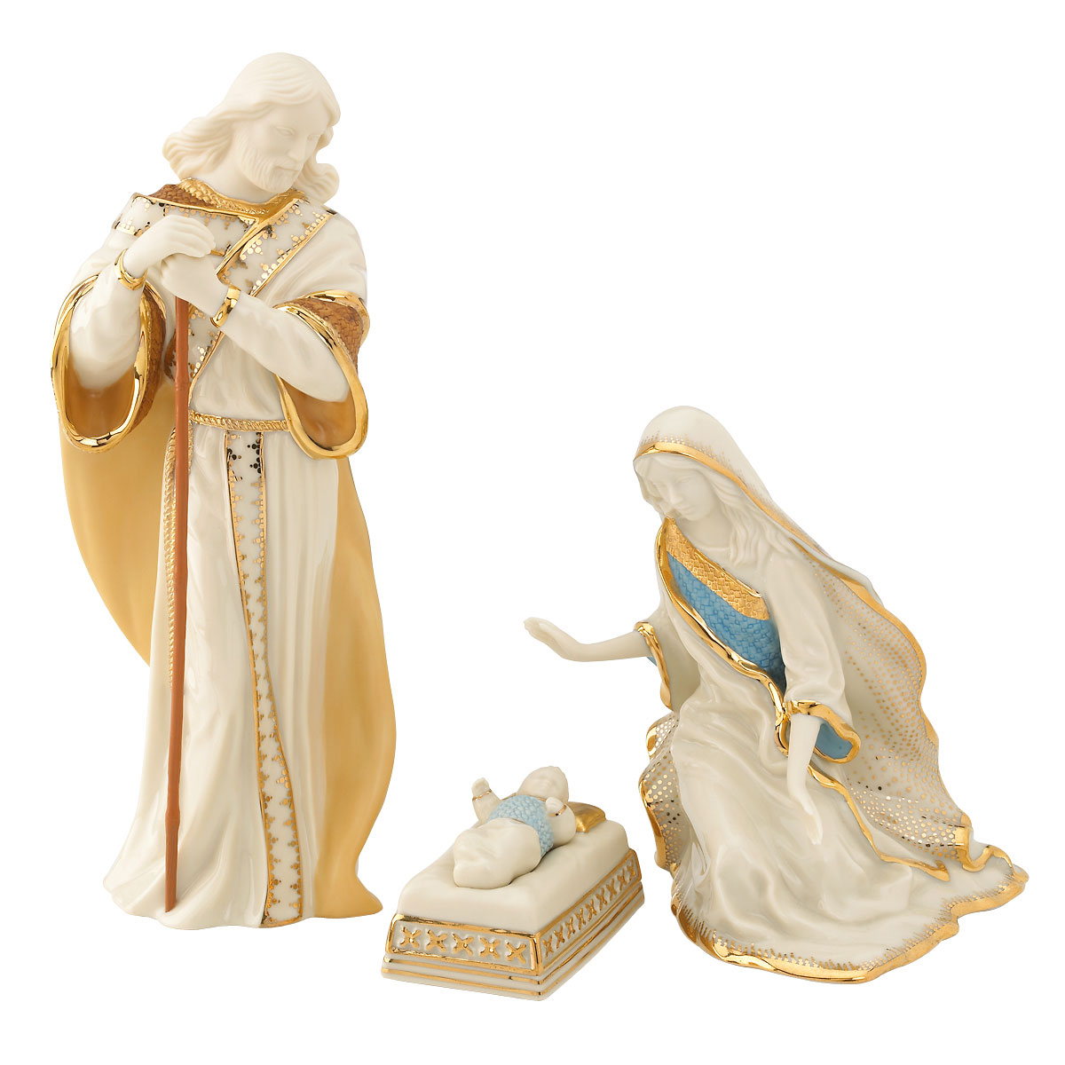 Lenox First Blessings Nativity Holy Family, 3 Piece Set