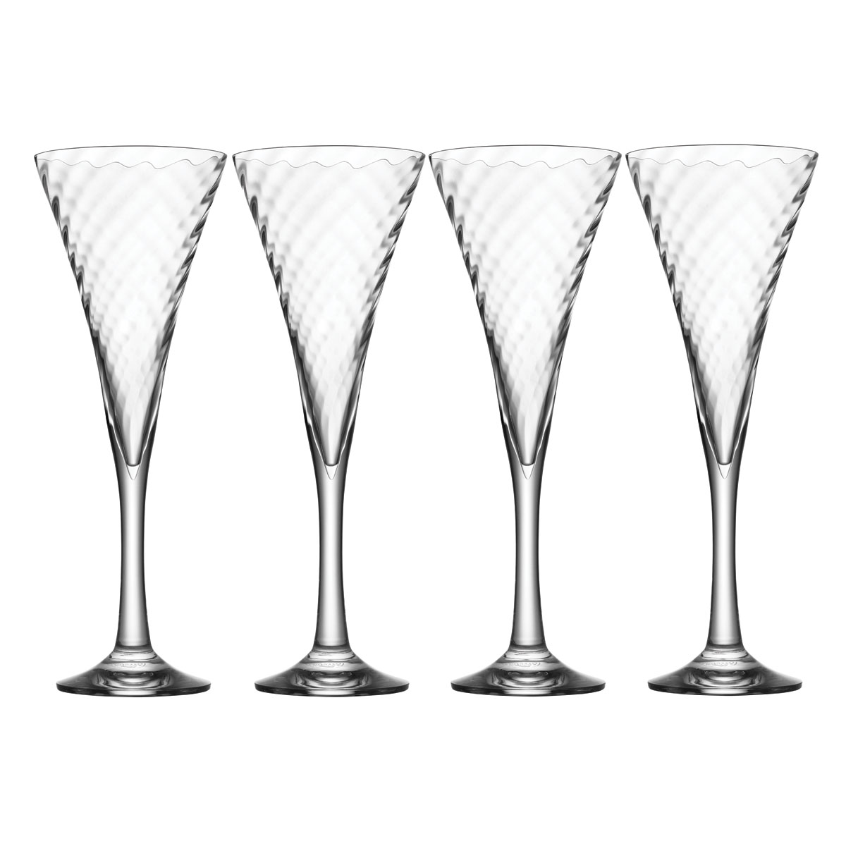 Orrefors Crystal Helena Champagne Toasting Flutes Gift Set, 3+1 Free