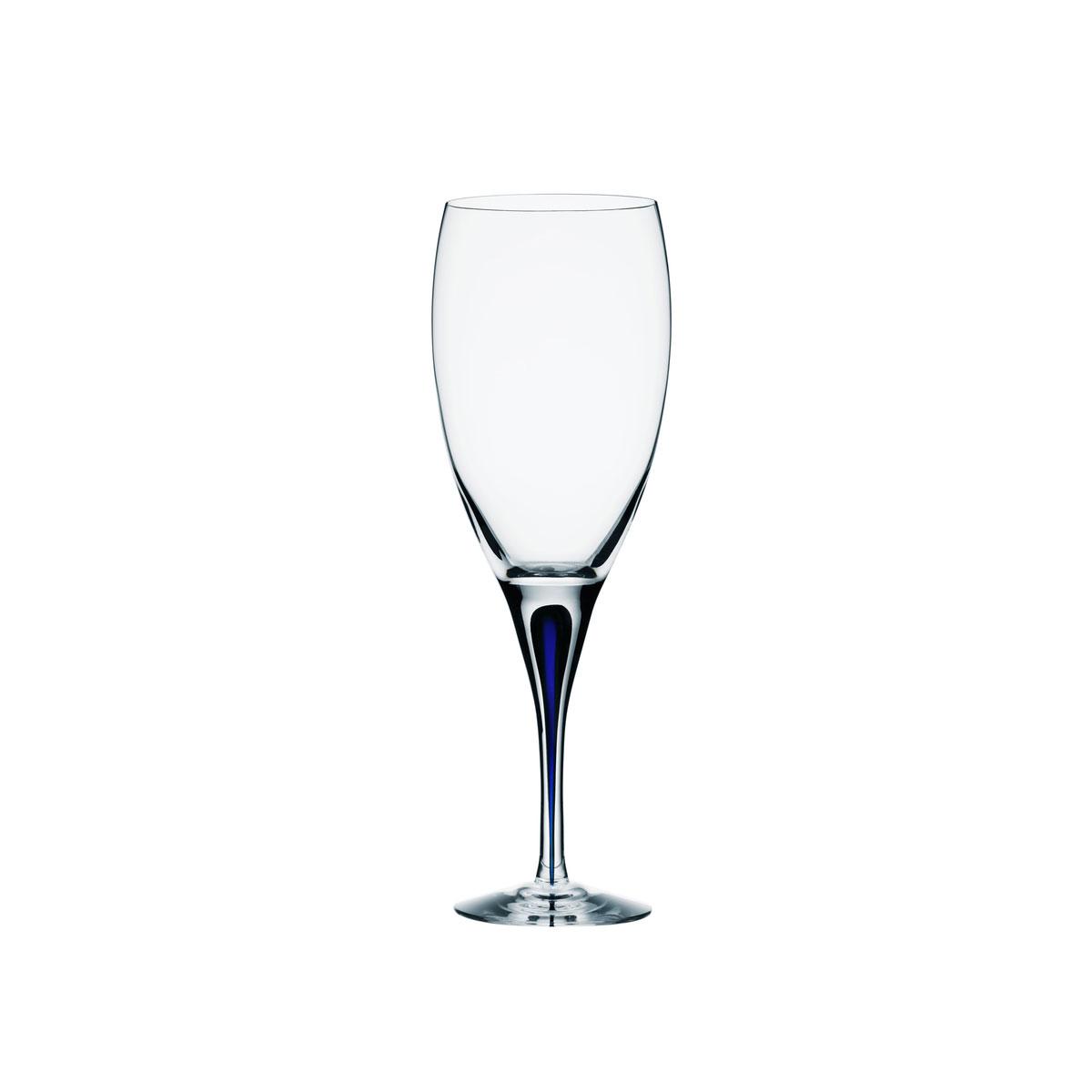 Orrefors Crystal, Intermezzo Blue White Wine, Single