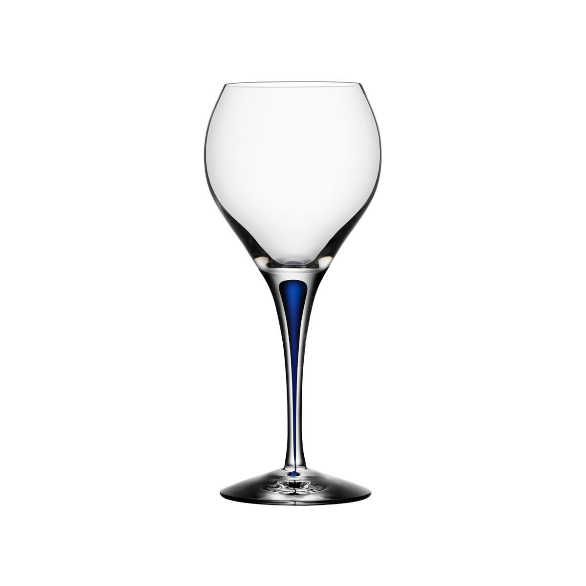Orrefors Crystal, Intermezzo Blue Sweet Crystal Wine Glass, Single