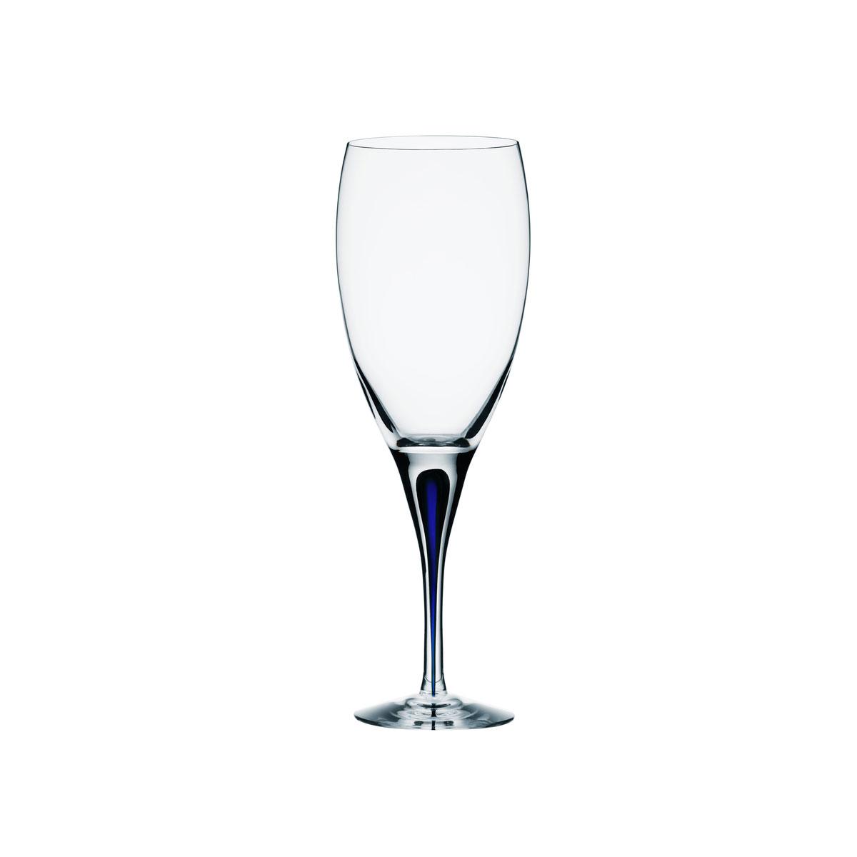 Orrefors Crystal, Intermezzo Blue Crystal Wine Claret, Single