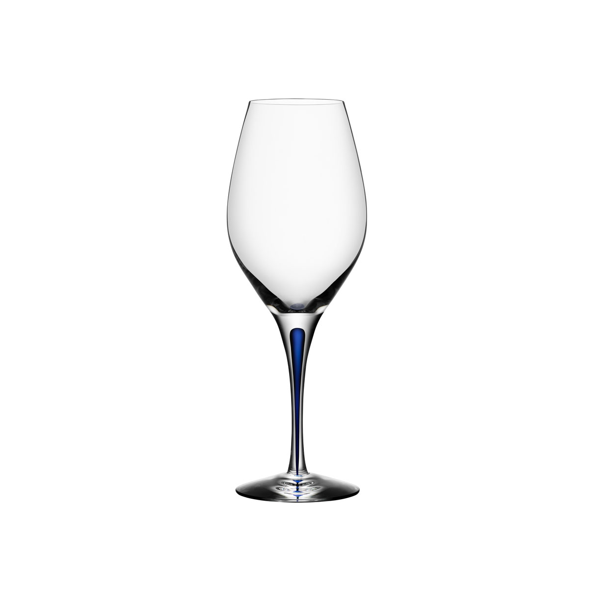 Orrefors Crystal, Intermezzo Blue Crystal Wine, Single