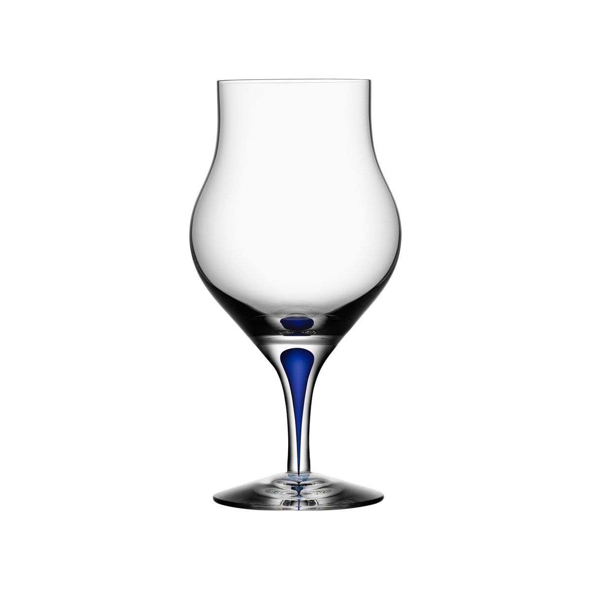 Orrefors Crystal, Intermezzo Blue Crystal Brandy Snifter, Single