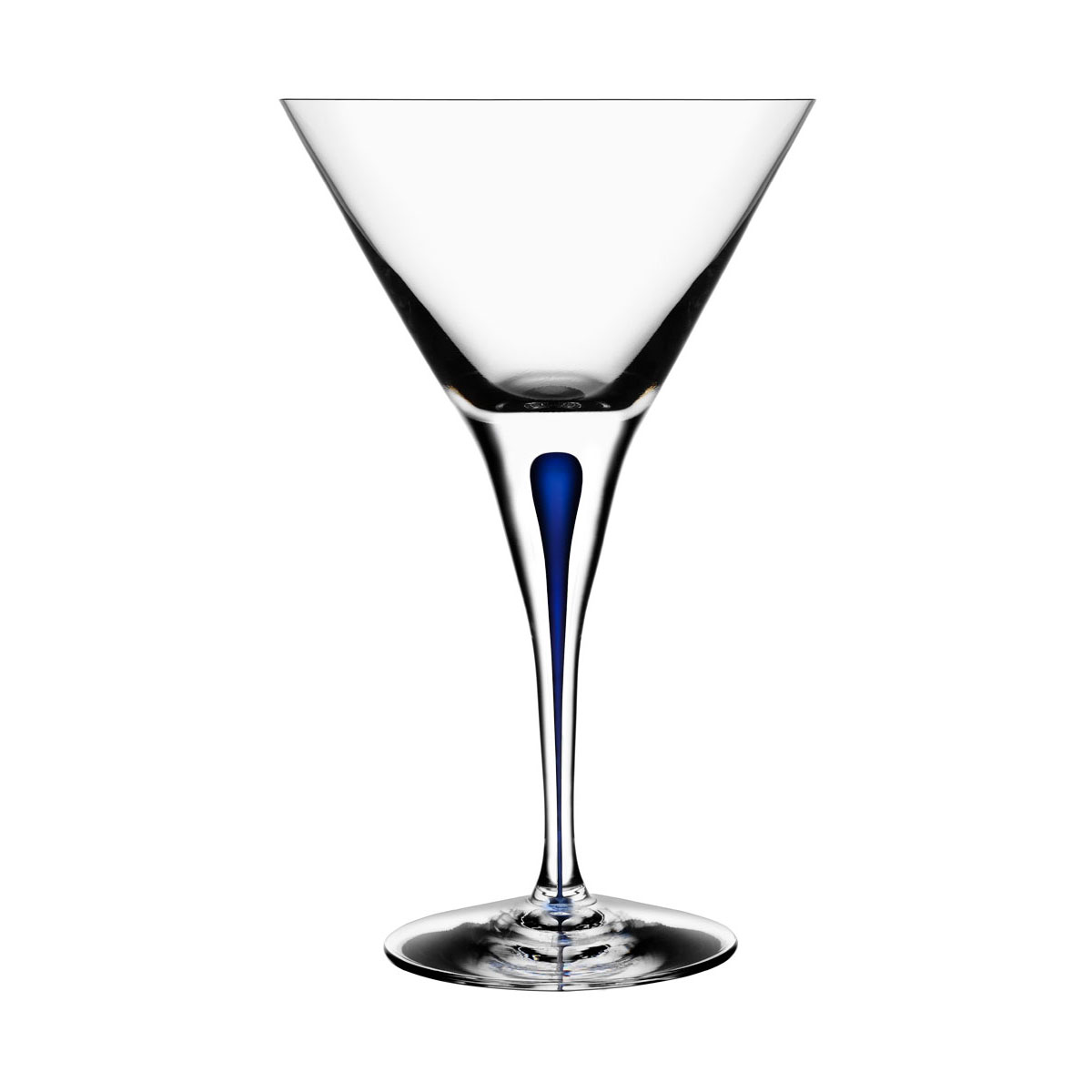 Orrefors Crystal, Intermezzo Blue Crystal Martini, Single