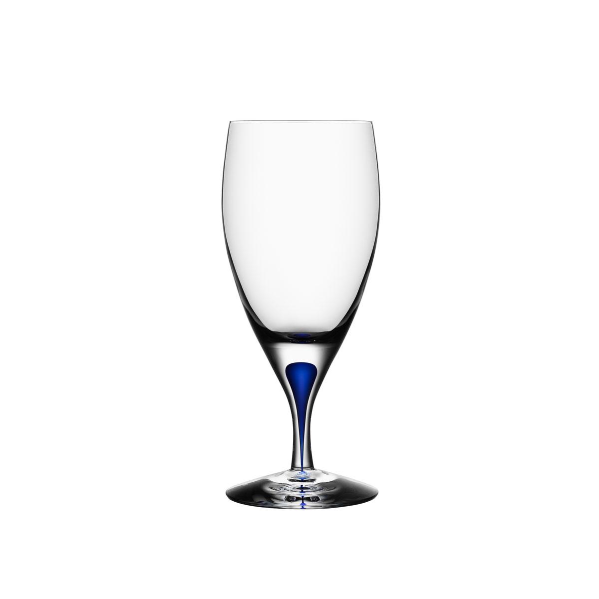 Orrefors Crystal, Intermezzo Blue Crystal Iced Beverage, Single