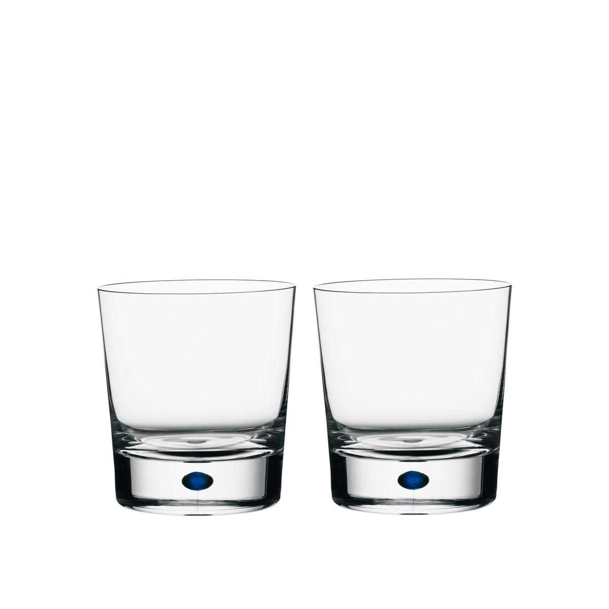 Orrefors Crystal, Intermezzo Blue Crystal DOF Tumbler, Pair