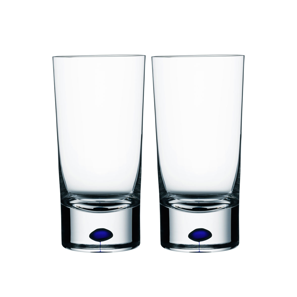Orrefors Crystal, Intermezzo Blue Tumbler, Pair