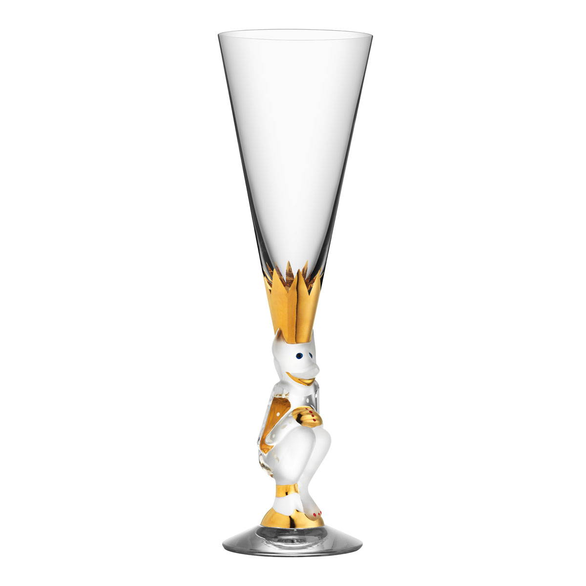 Orrefors Crystal The Sparkling Devil Clear Champagne, Single