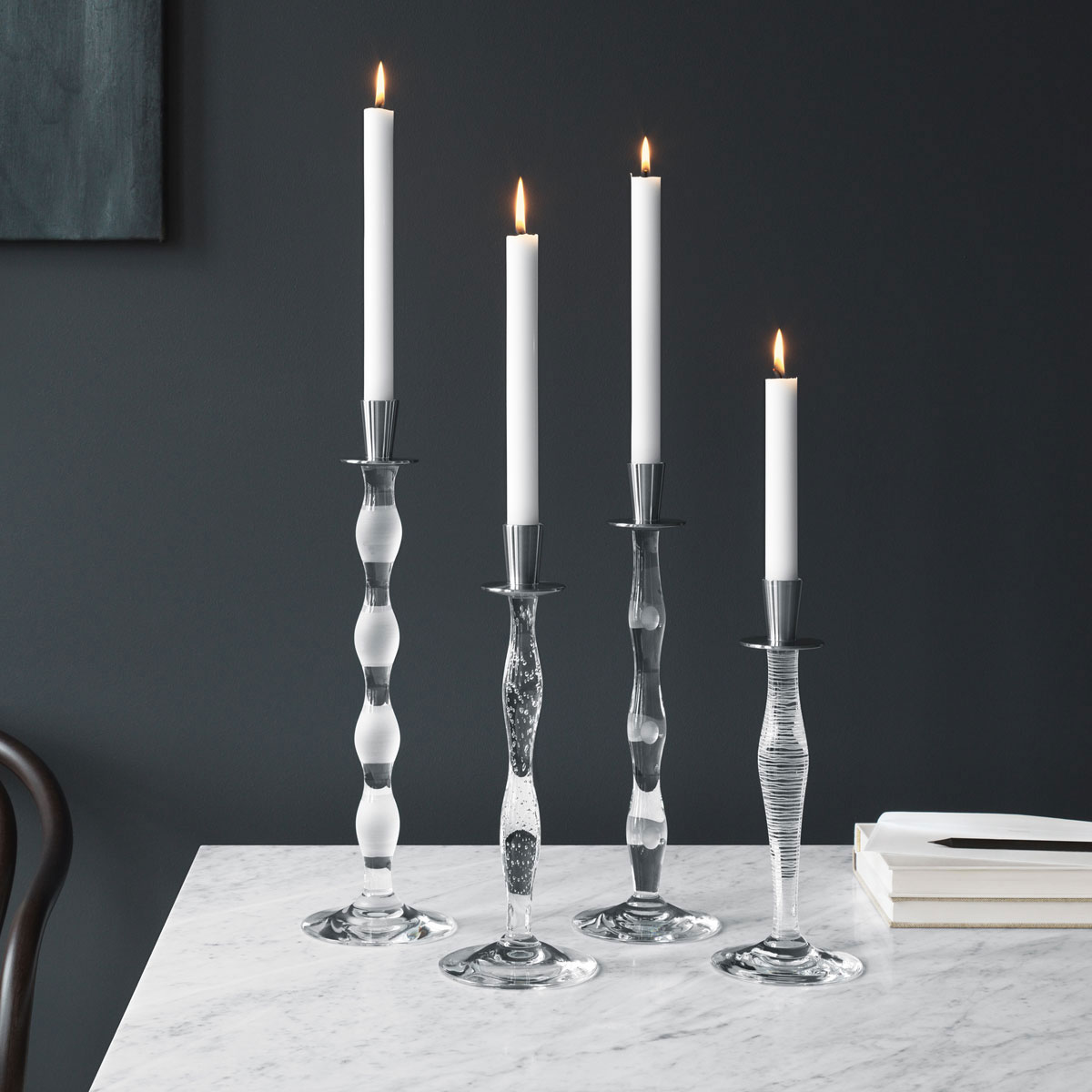 Orrefors Celeste Cut Candlestick, Single