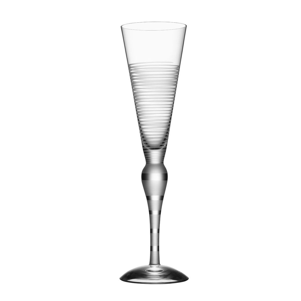 Orrefors Clown Champagne Flute Single, Frost Lines