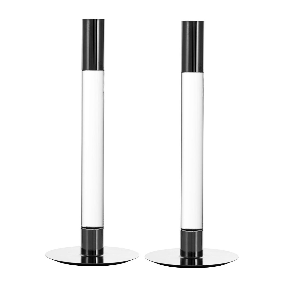 """Orrefors Lumiere 10.5"""" Candlesticks Pair"""