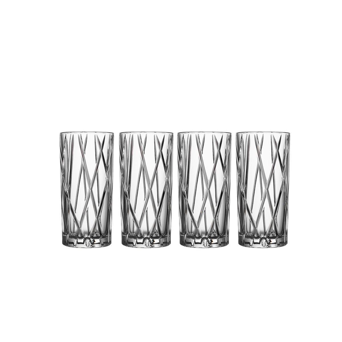 Orrefors Crystal, City Crystal Old Fashioned Tumbler Glass, Set of Four