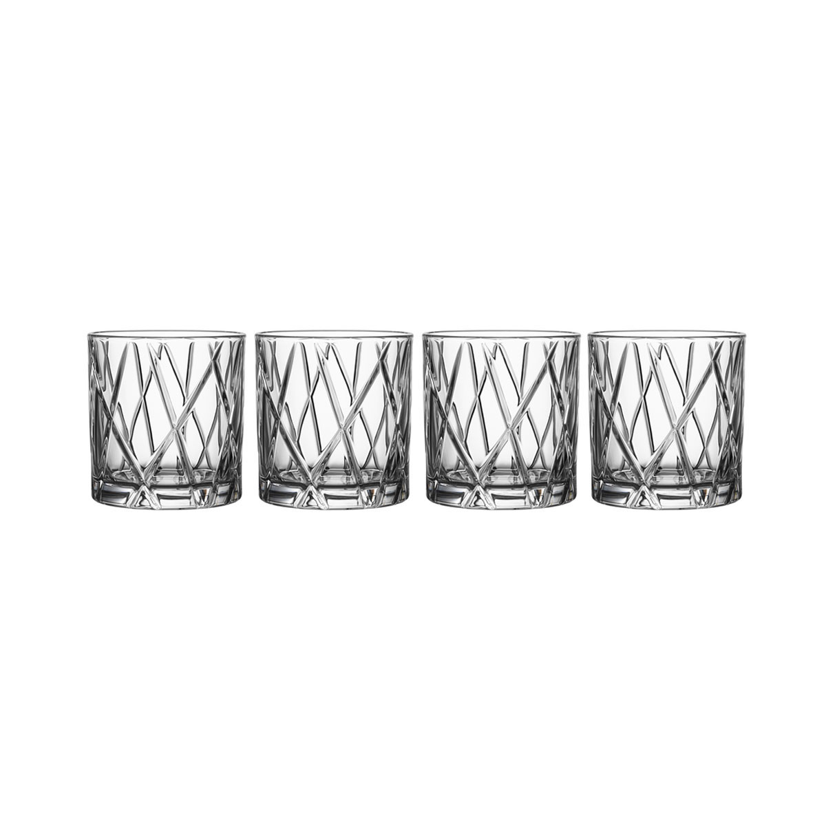 Orrefors Crystal, City DOF Tumbler, Set of Four