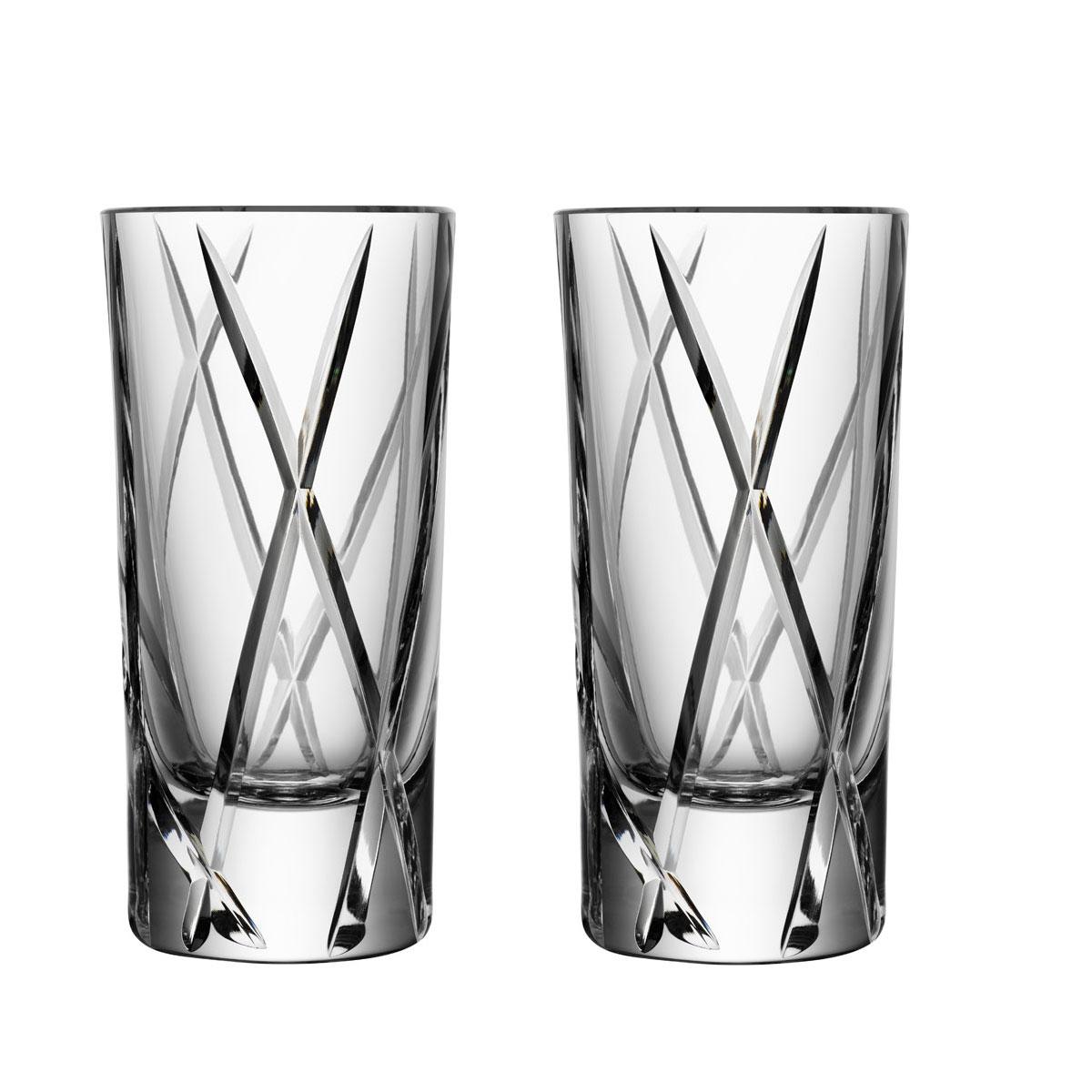 Orrefors City Shot Glasses, Pair