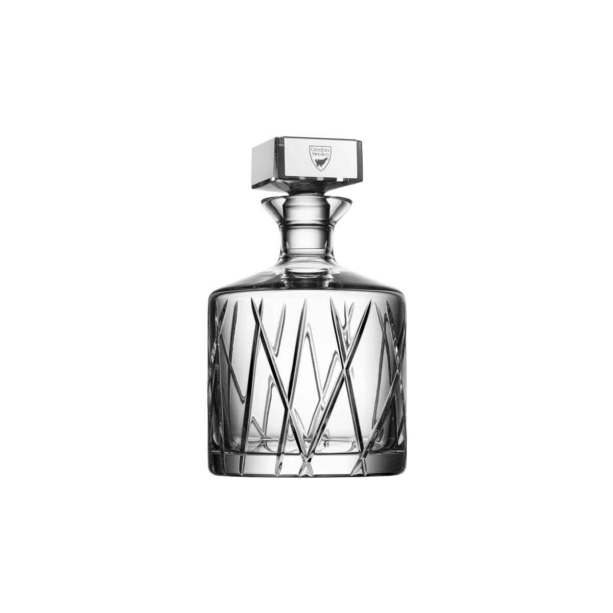 Orrefors Crystal, City Crystal Whiskey Decanter