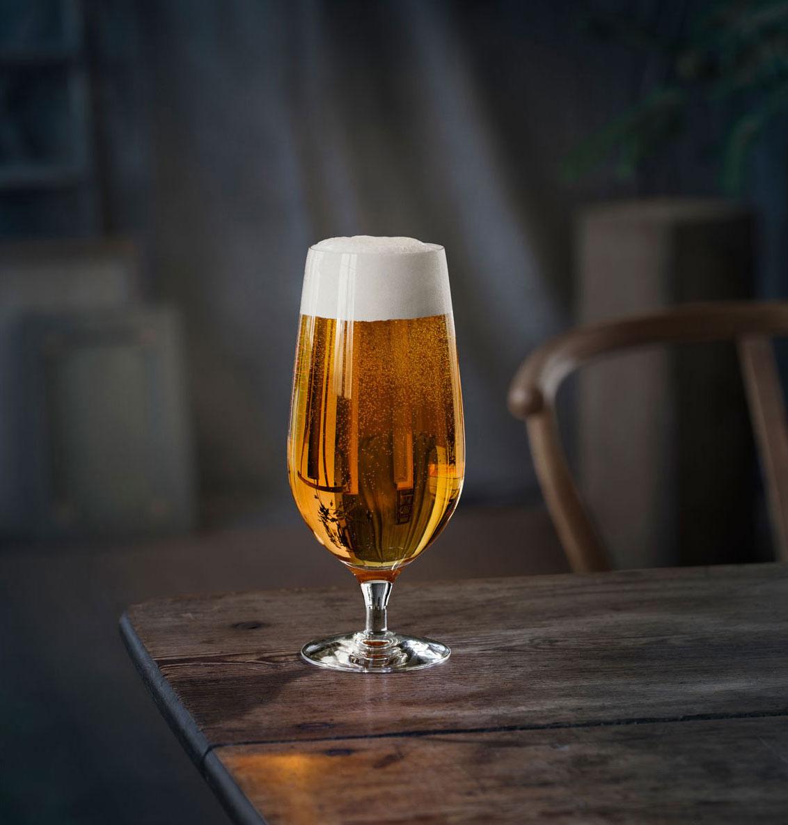 Orrefors Crystal, Beer Lager Glasses, Set of Four