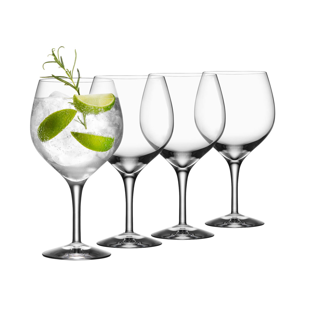 Orrefors Gin and Tonic Crystal Glasses, Set of Four