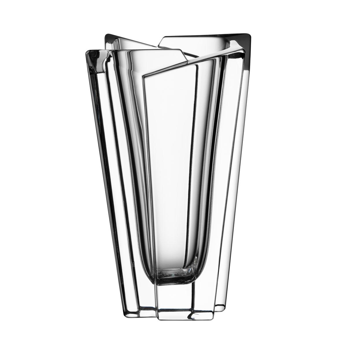 "Orrefors Crystal, Glacial 7 3/8"" Crystal Vase"