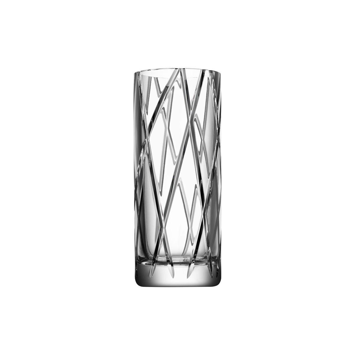 """Orrefors Crystal, Explicit Striped 9 7/8"""" Crystal Vase"""