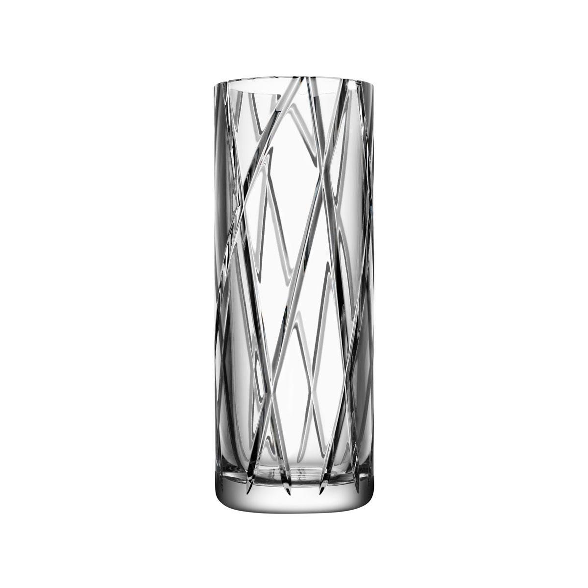 """Orrefors Crystal, Explicit Striped 11 7/8"""" Crystal Vase"""