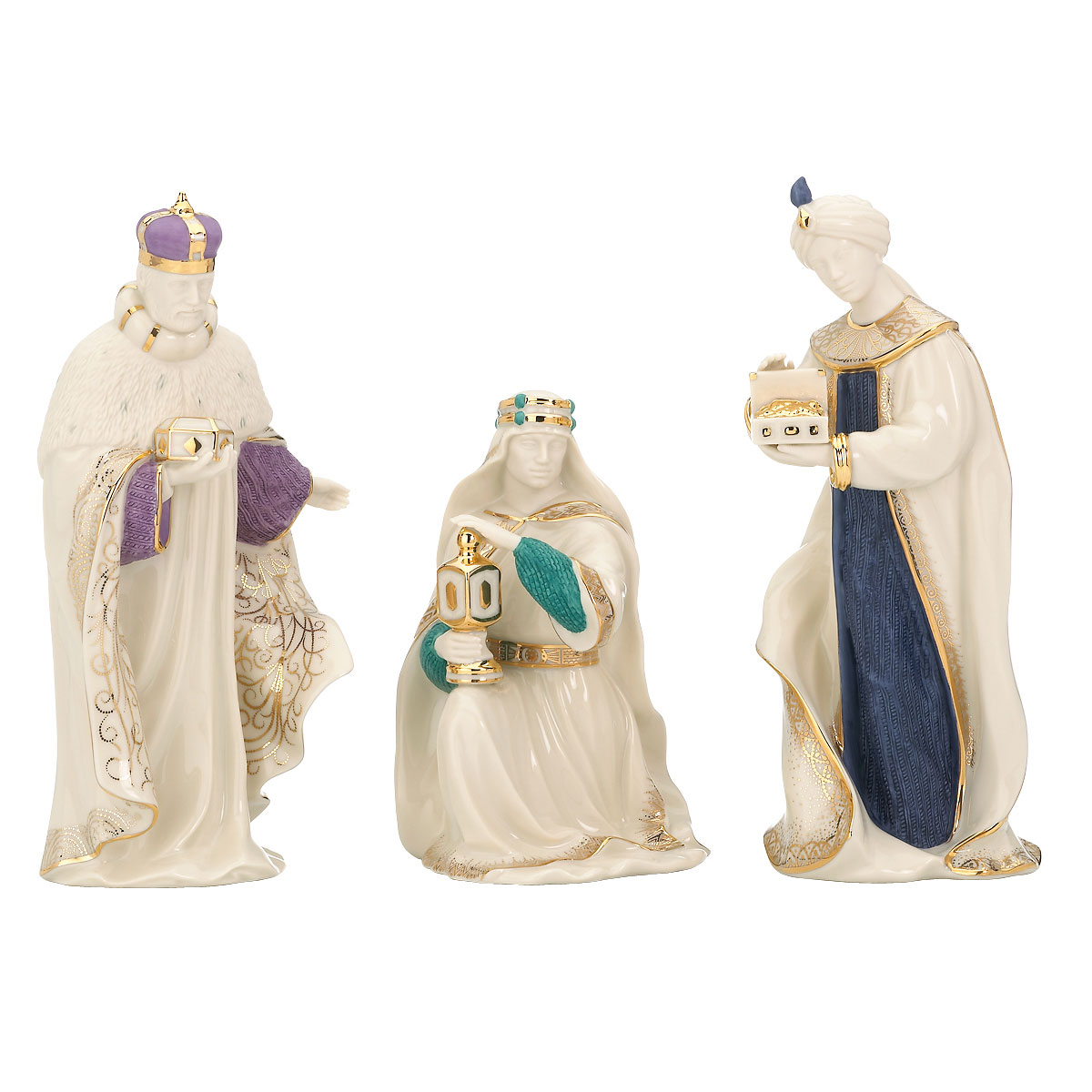 Lenox First Blessings Nativity The Three Kings, 3 Piece Set