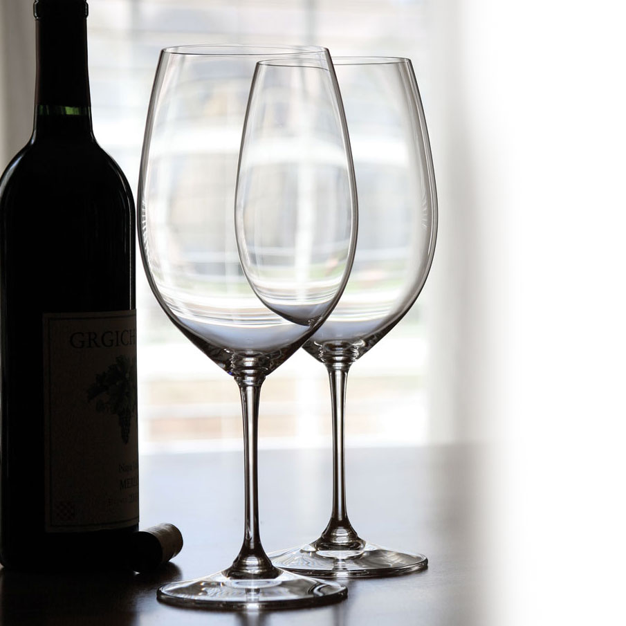 Riedel Vinum Bordeaux Crystal Wine Glasses, Pair