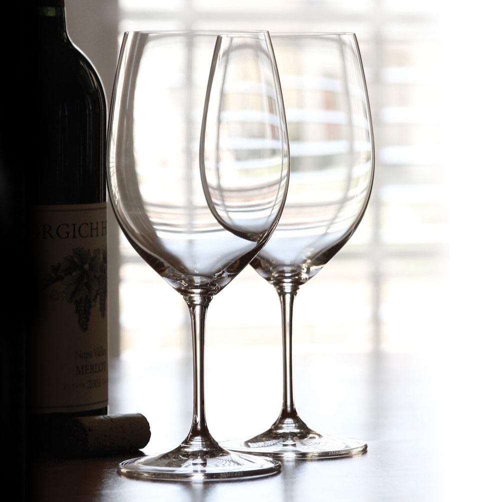 Riedel Vinum, Bordeaux, Cabernet, Merlot Crystal Wine Glasses, Pair