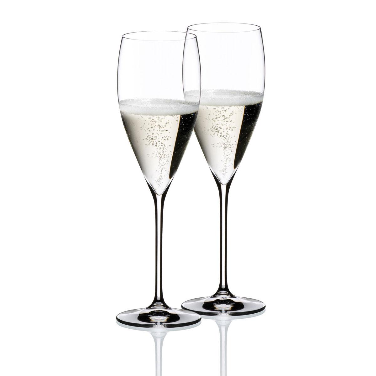 Riedel Vinum Champagne Glasses, Pair