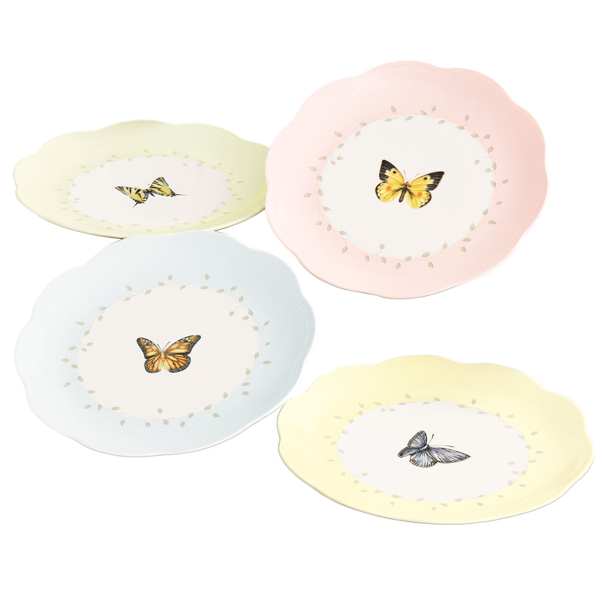 Lenox Butterfly Meadow Dinnerware Dessert Place Setting Of Four