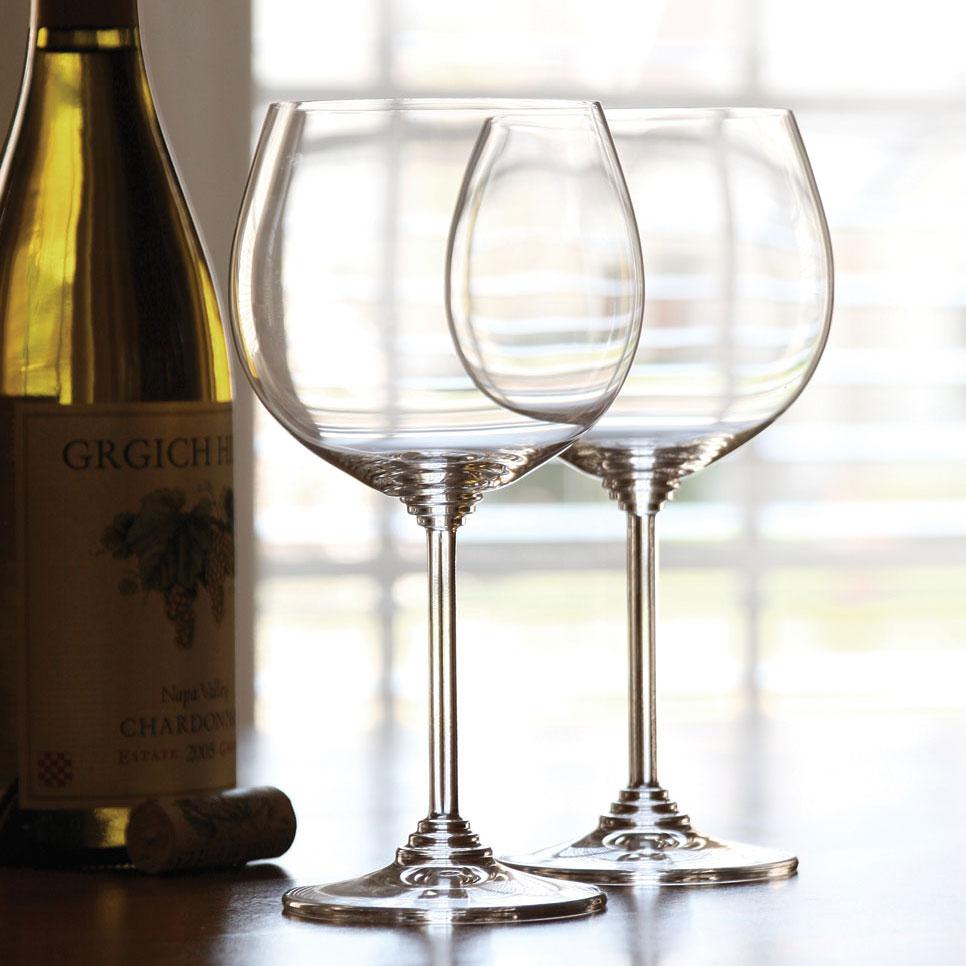 Riedel Wine, Montrachet, Chardonnay Crystal Wine Glasses, Pair