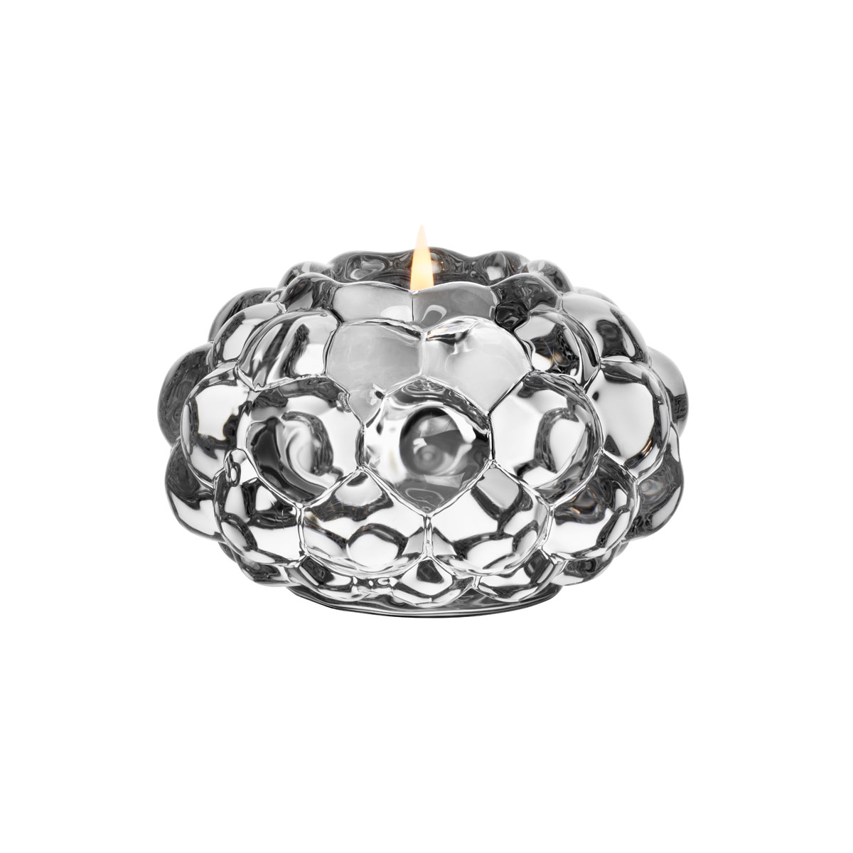 Orrefors Crystal Raspberry Votive, Small