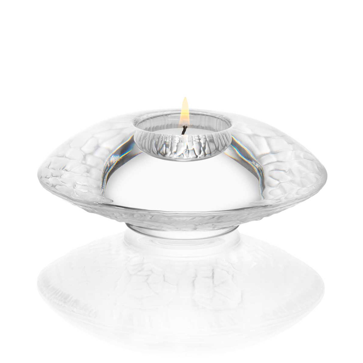 Orrefors Crystal, Discus Frosted Crystal Votive, Single