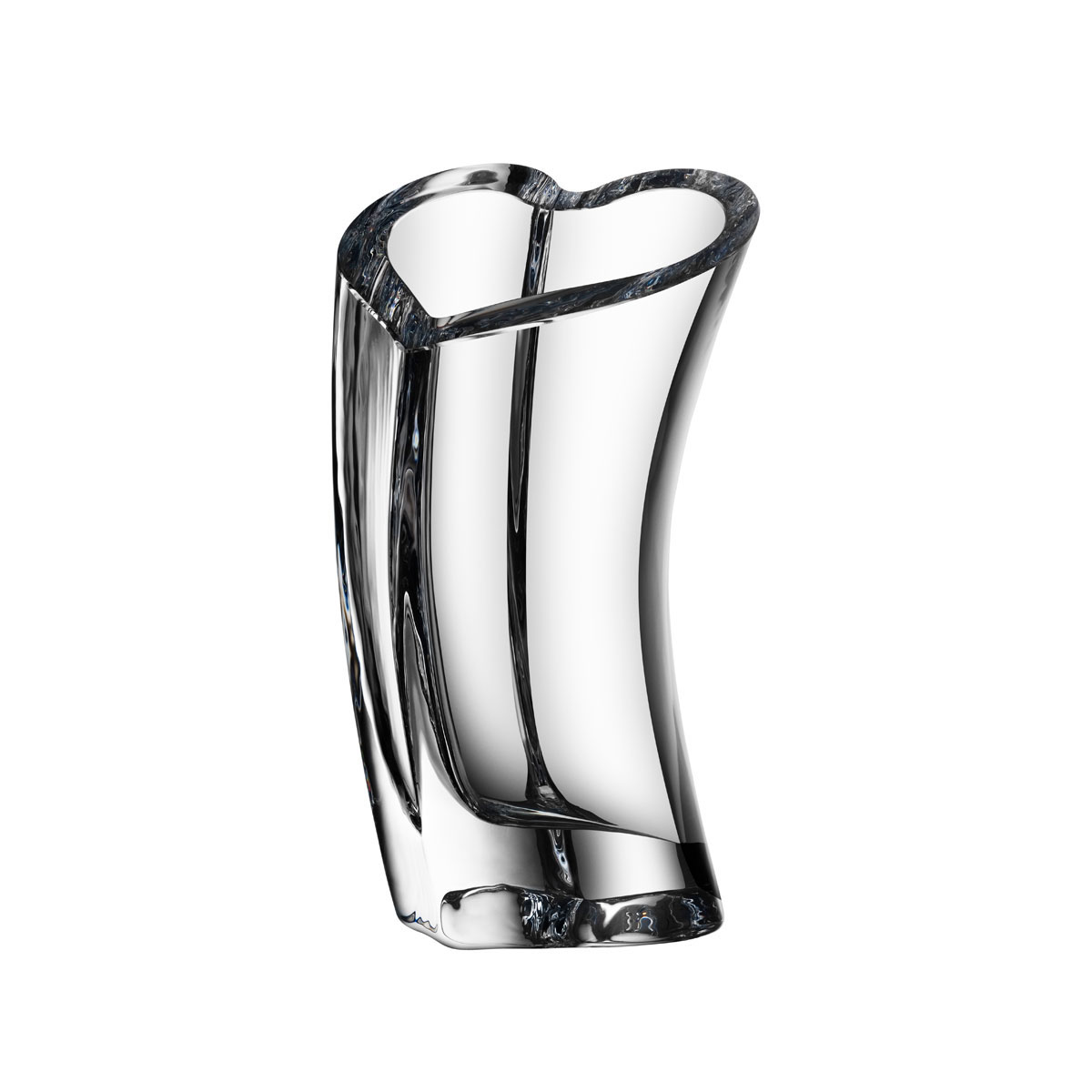 "Orrefors Crystal, Valentino 11 3/4"" Heart Crystal Vase"