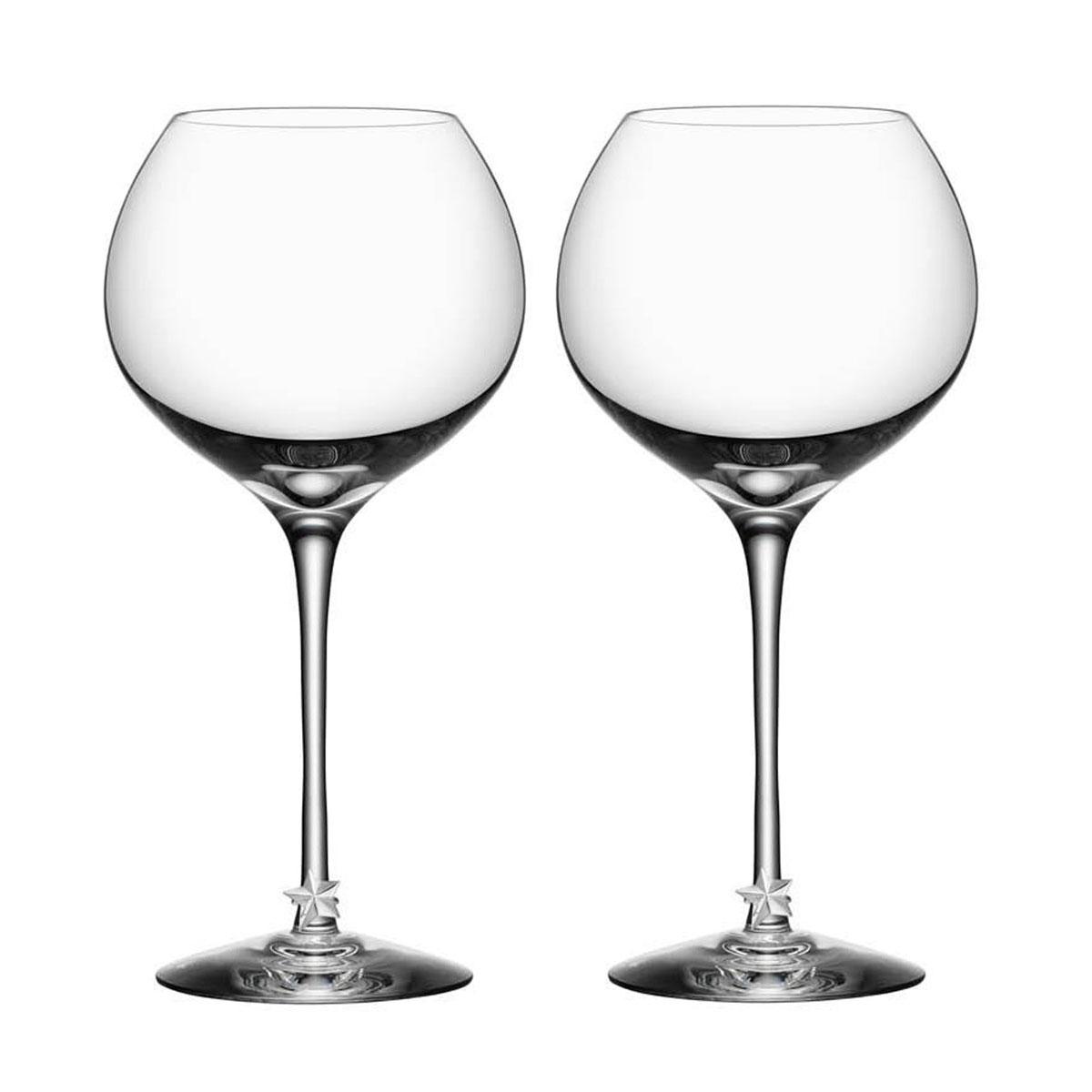 Orrefors Crystal, Star Crystal Wine Glasses, Pair