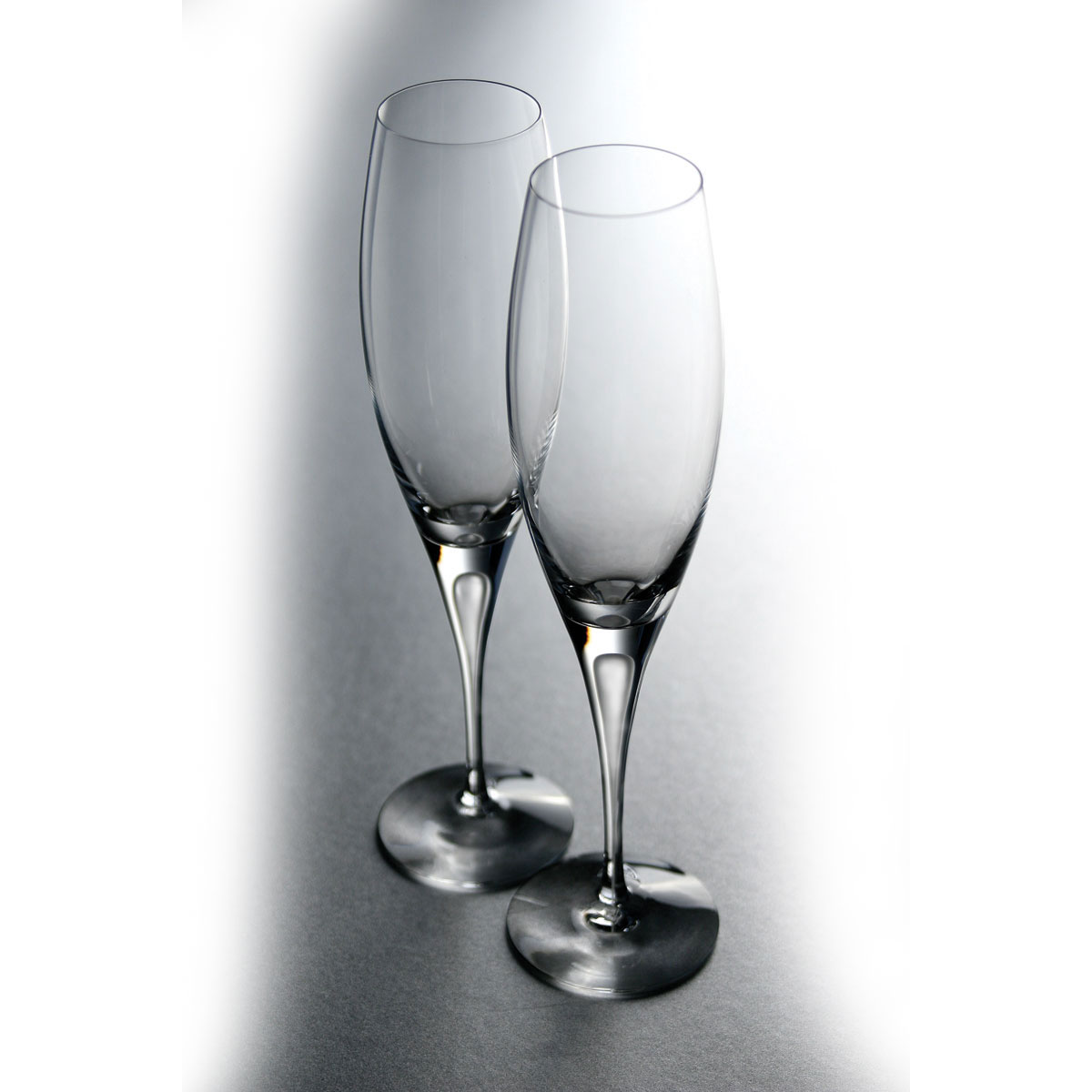 Orrefors Crystal, Intermezzo Satin Crystal Champagne, Single