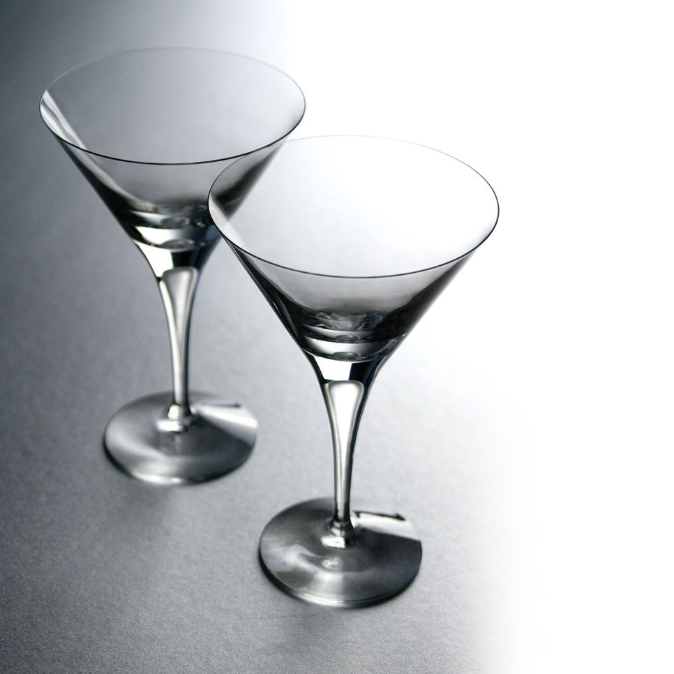 Orrefors Crystal, Intermezzo Satin Crystal Martini, Single