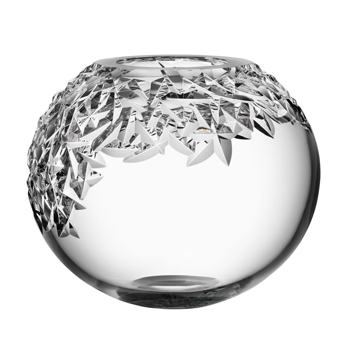 "Orrefors Carat Upper Cut Globe 9.75"" Vase"
