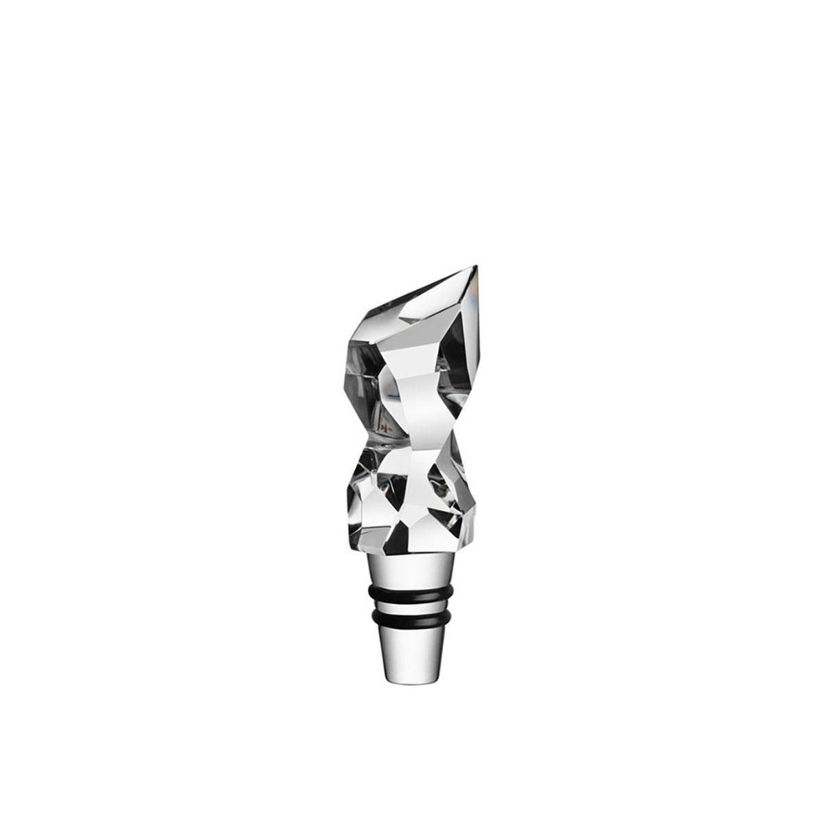 Orrefors Crystal, Carat Tokyo Wine Bottle Stopper, Single
