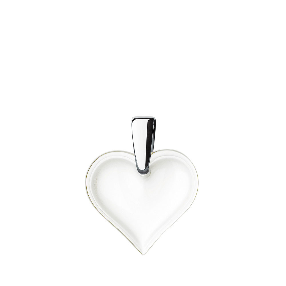 Lalique Crystal Amoureuse Beaucoup Heart Pendant, Clear