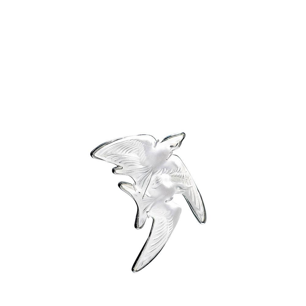 Lalique Hirondelles Brooch, Clear
