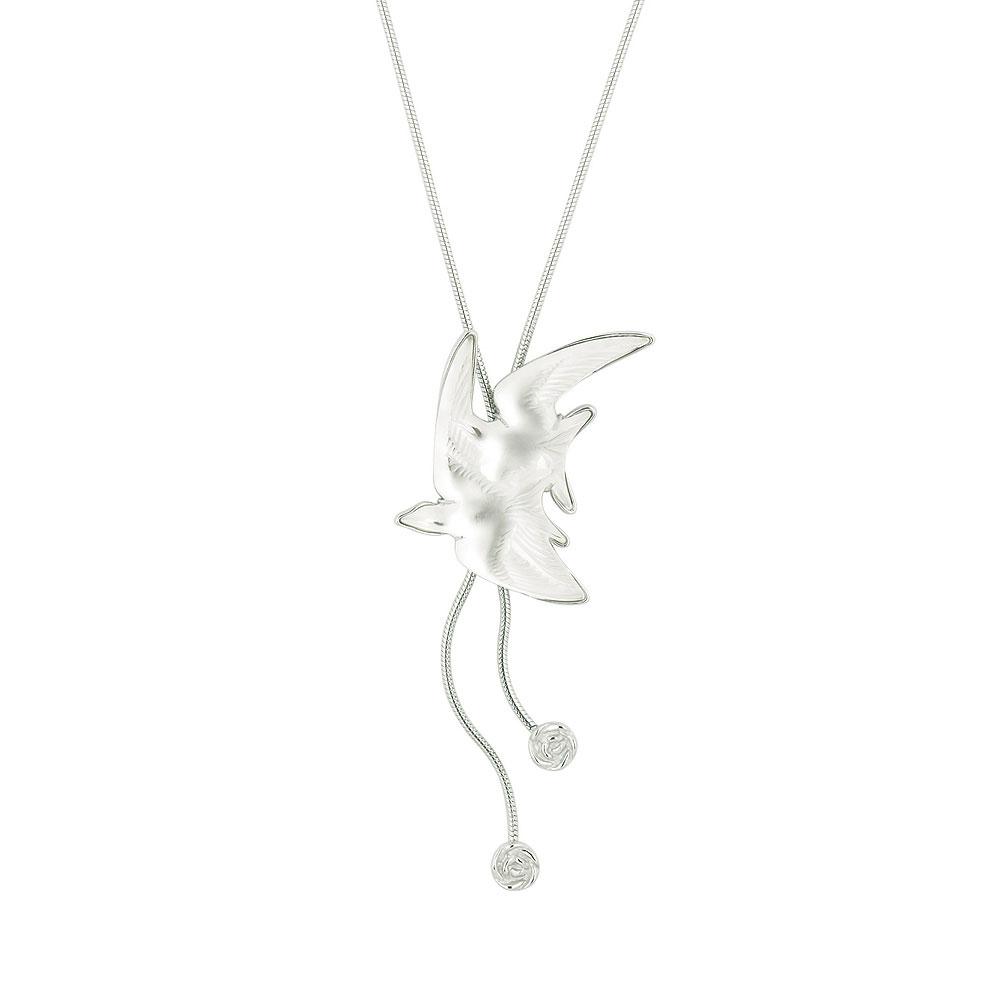 Lalique Hirondelle Necklace, Clear