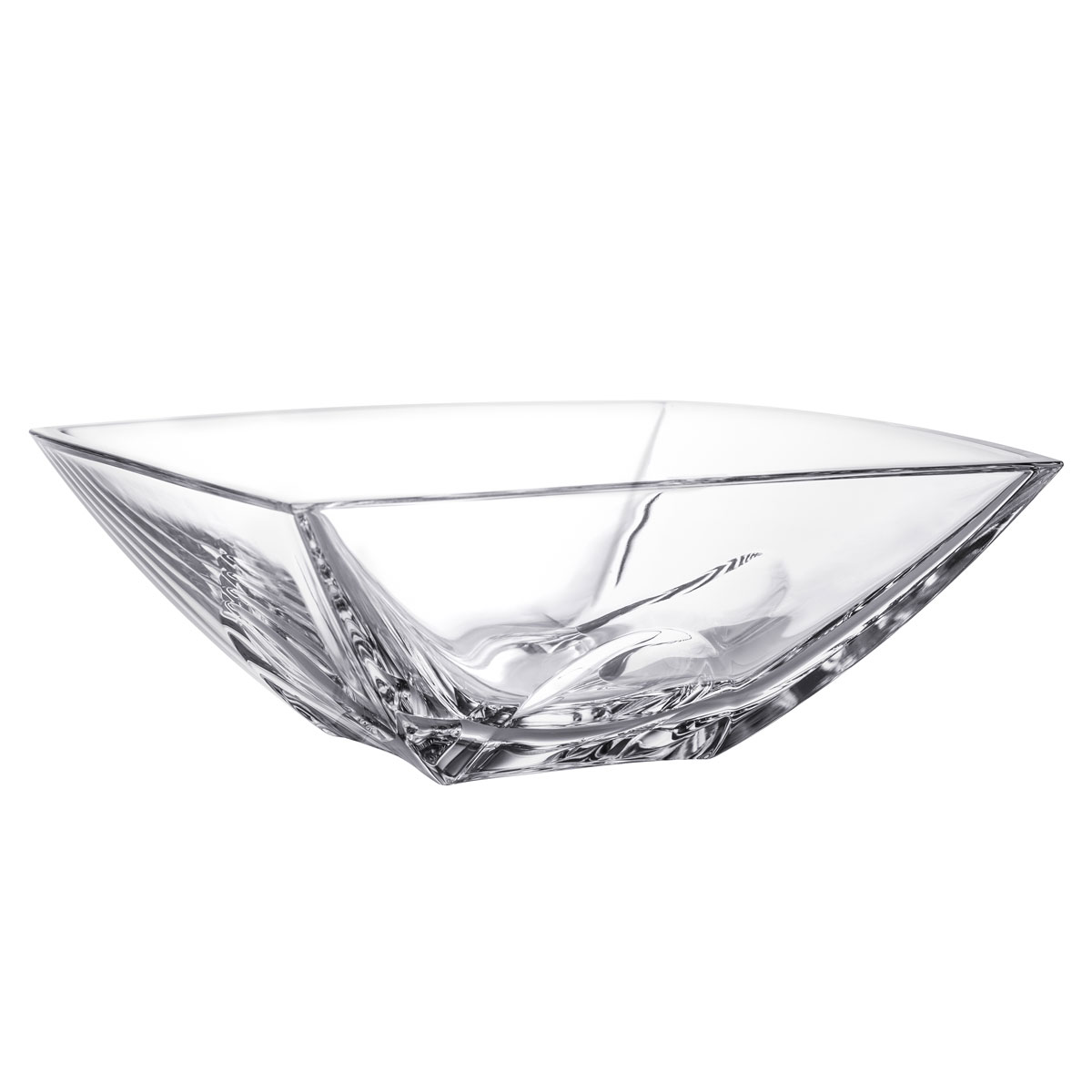 """Orrefors Crystal, Cathedral 10"""" Crystal Bowl"""