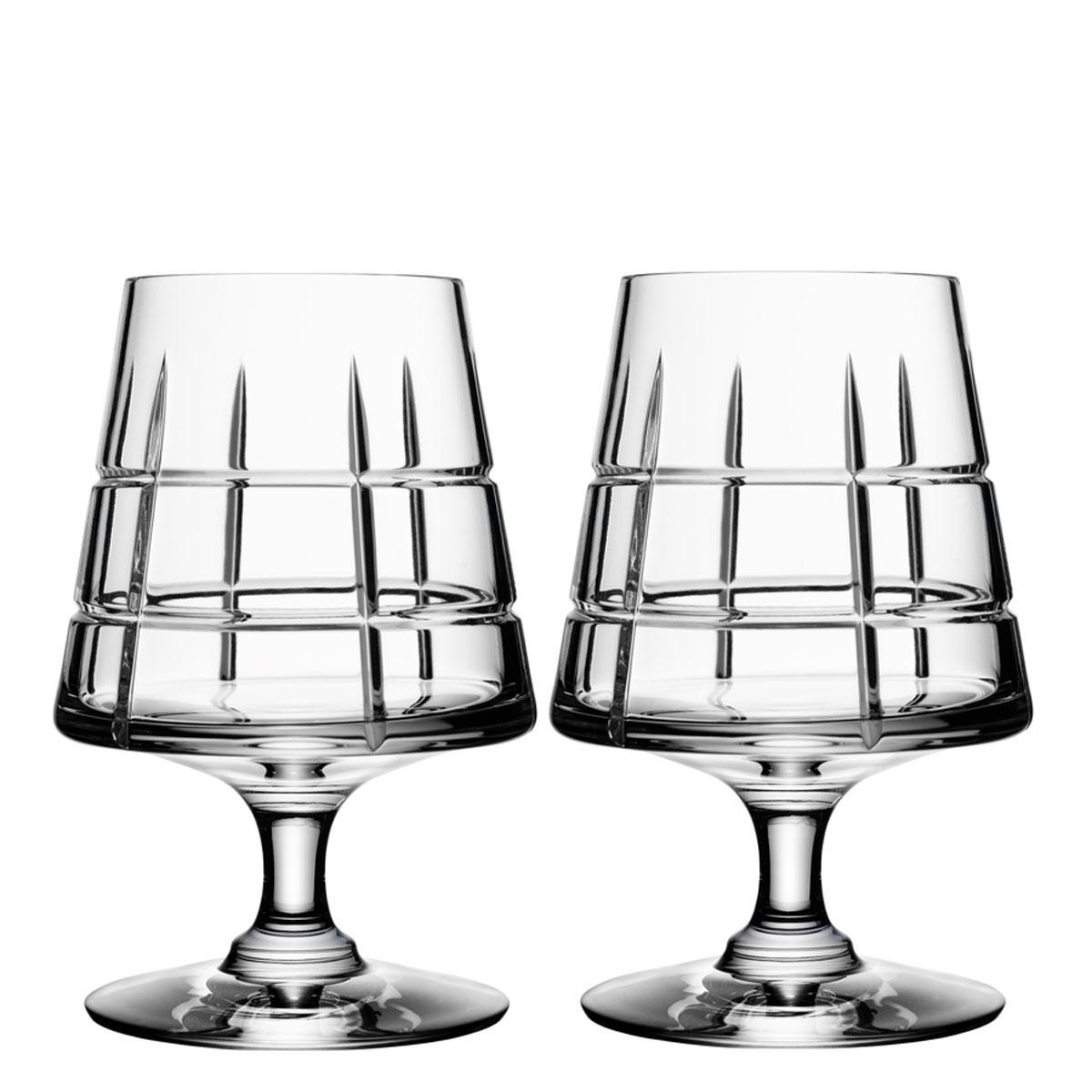 Orrefors Crystal, Street Cognac Crystal Glasses, Pair