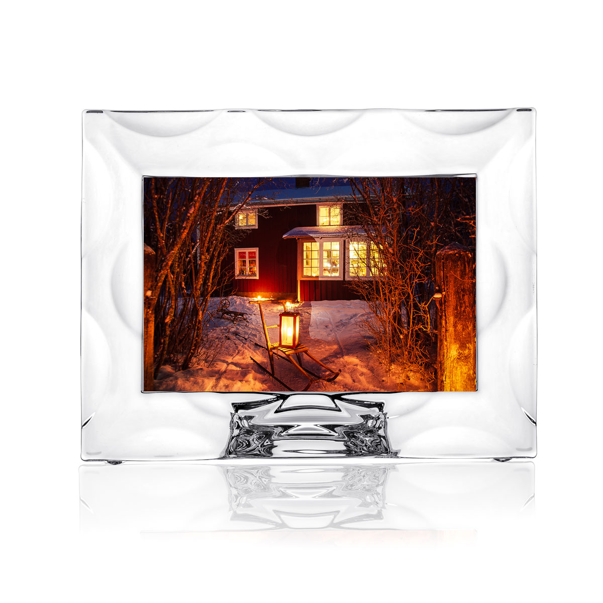 """Orrefors Crystal, Wave 4x6"""" Picture Frame"""