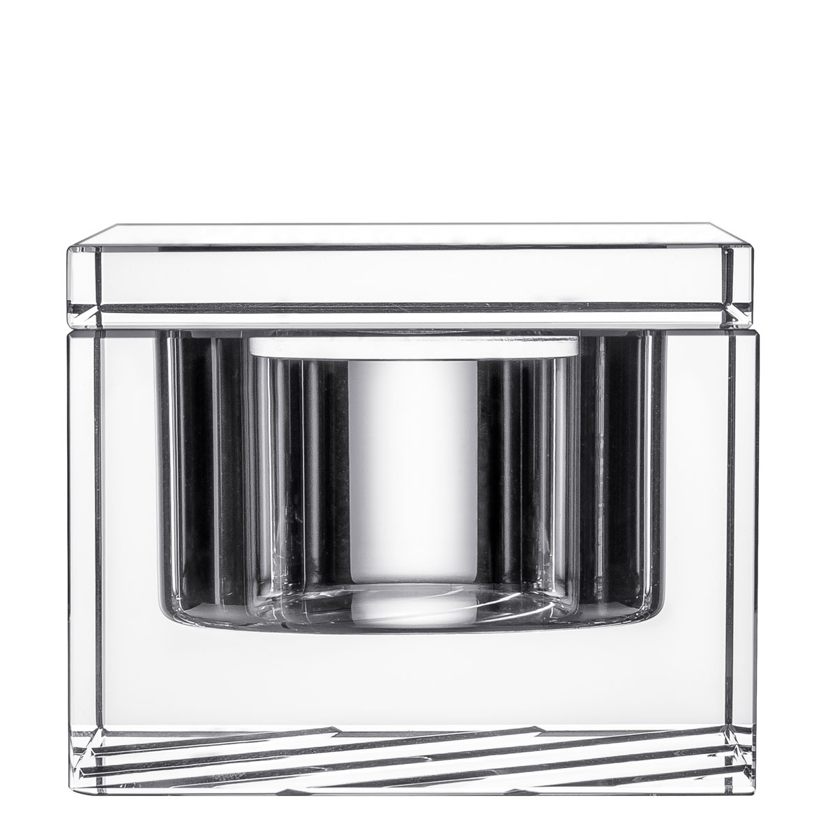 Orrefors Crystal, Stripe Covered Box