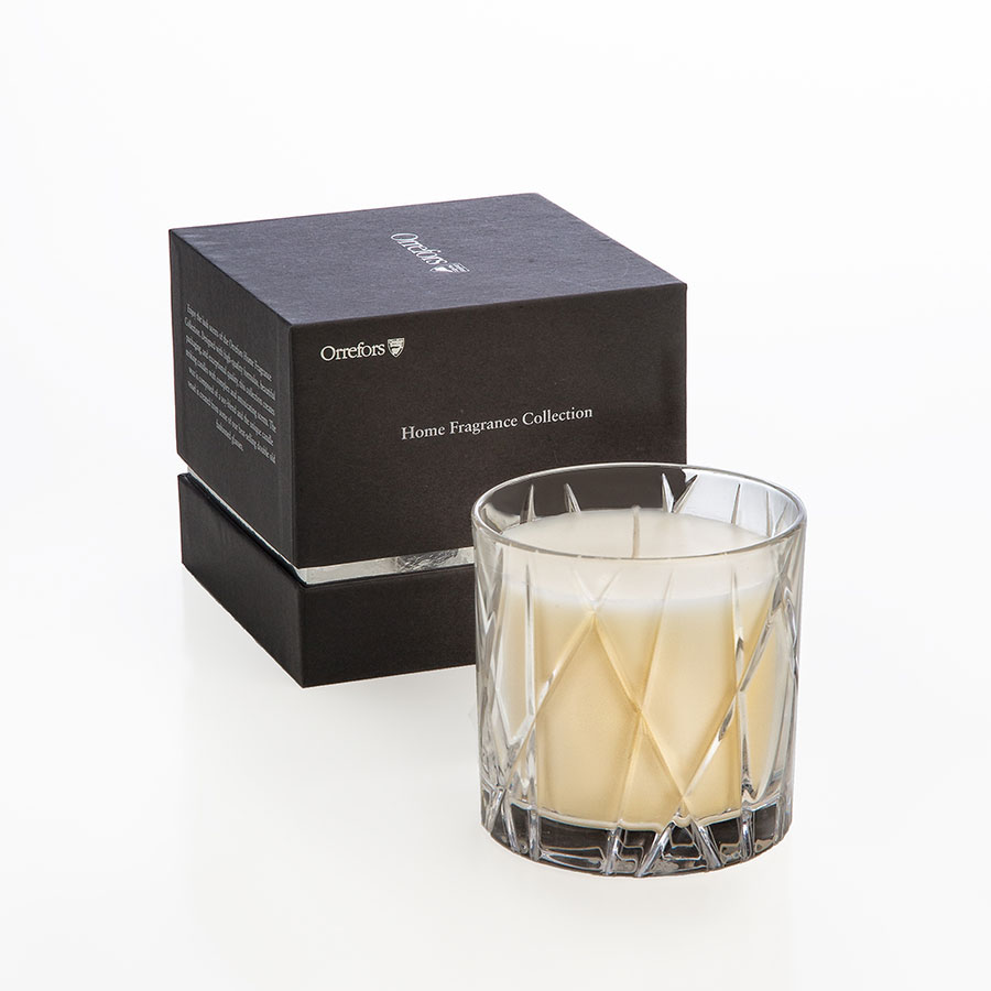 Orrefors Crystal City Candle