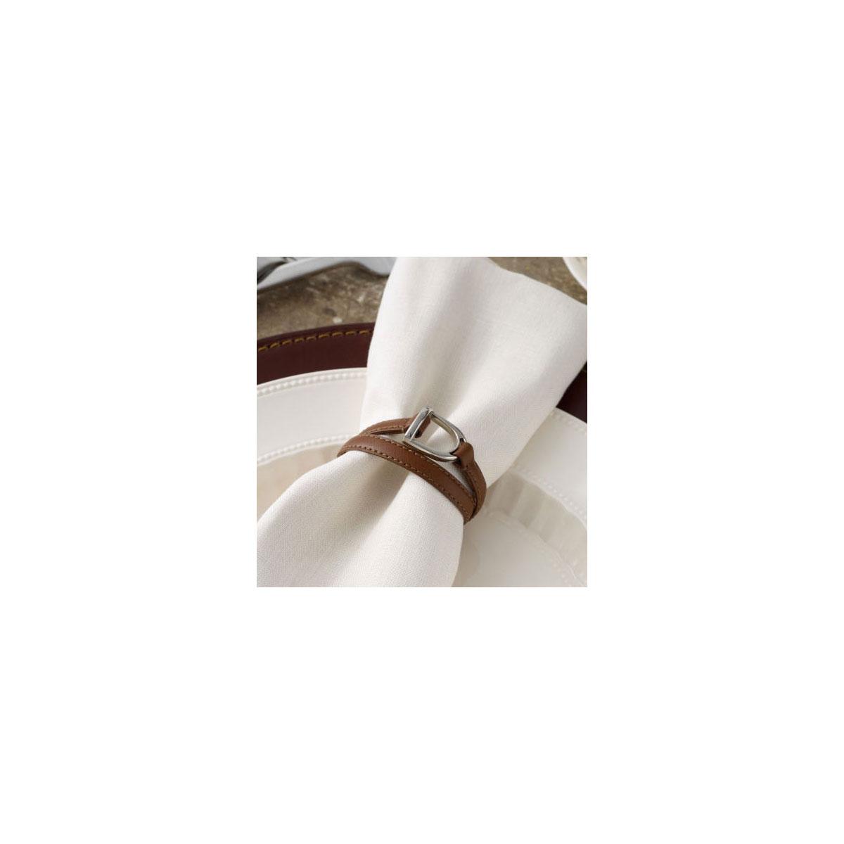 Ralph Lauren Dorset Stirrup Nickel Napkin Ring Holder